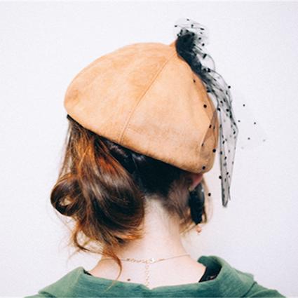 ヘアアレンジ_秋帽子完成04
