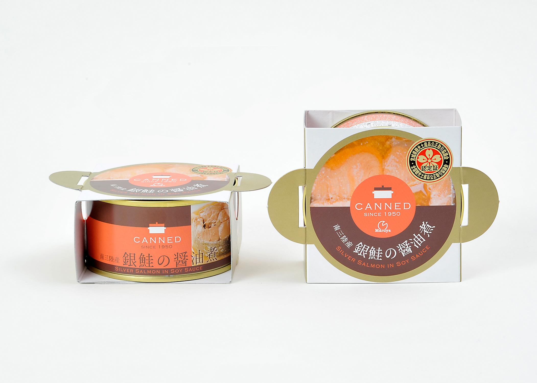 南三陸産銀鮭の醤油煮缶詰01