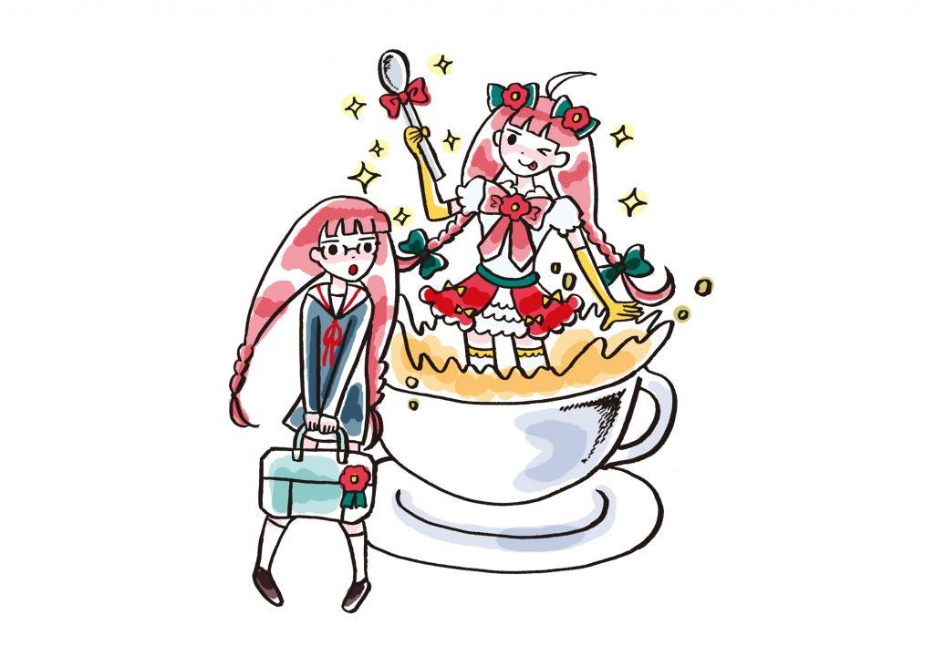 椿茶イラスト