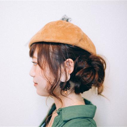 ヘアアレンジ_秋帽子完成02